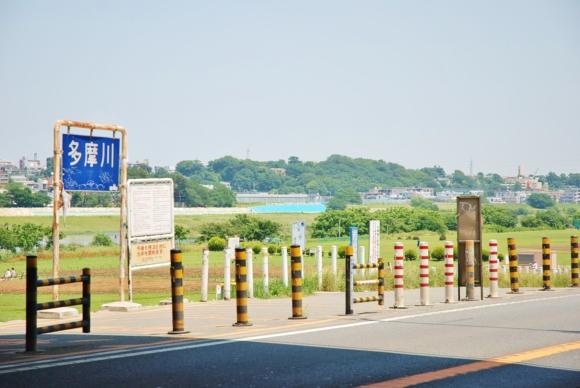 多摩川河川敷 駐車場