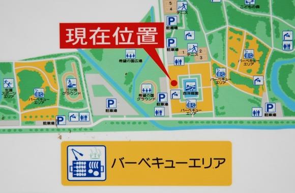 秋ヶ瀬公園バーベキュー 地図