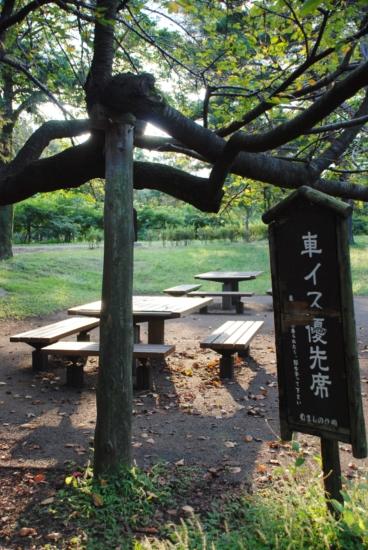 武蔵野公園 バーベキュー場所取り